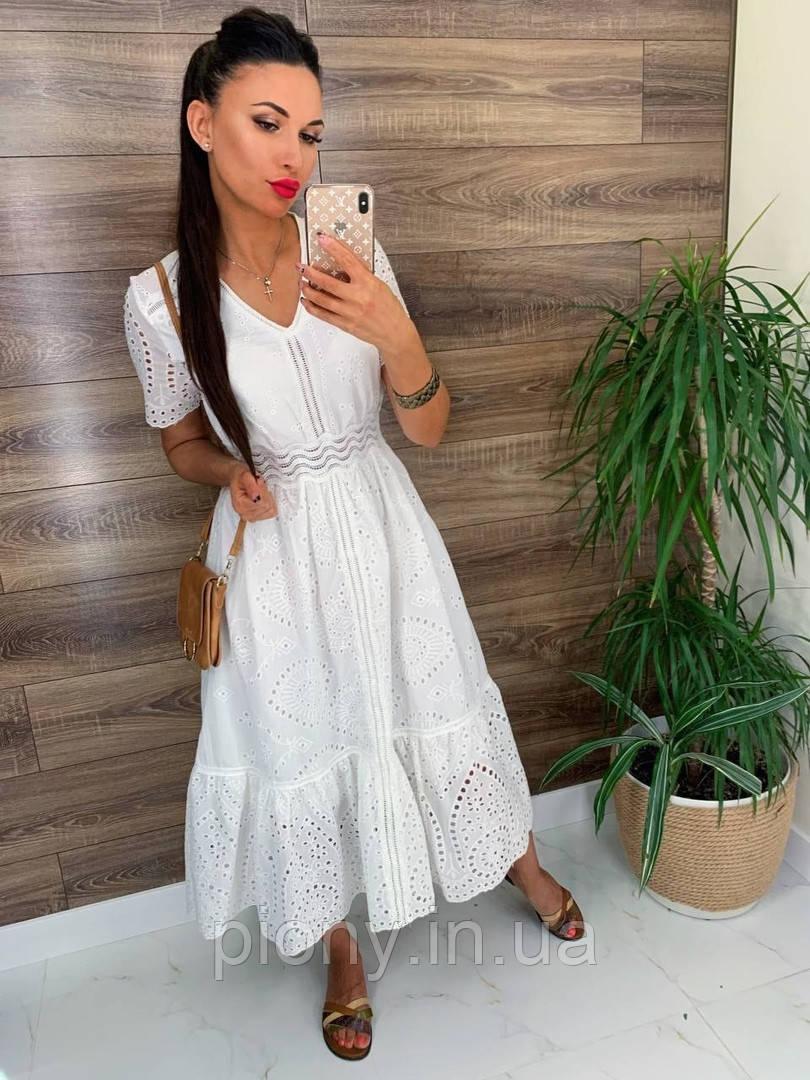 Женское Платье миди Прошва