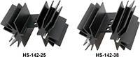 HS-142-38 Радиатор: штампованный; TO220; черный; L:38,1мм; 6,2К/Вт; алюминий