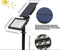 Садовий ліхтар на сонячній батареї 48 Led (Внуш. розміри), фото 1