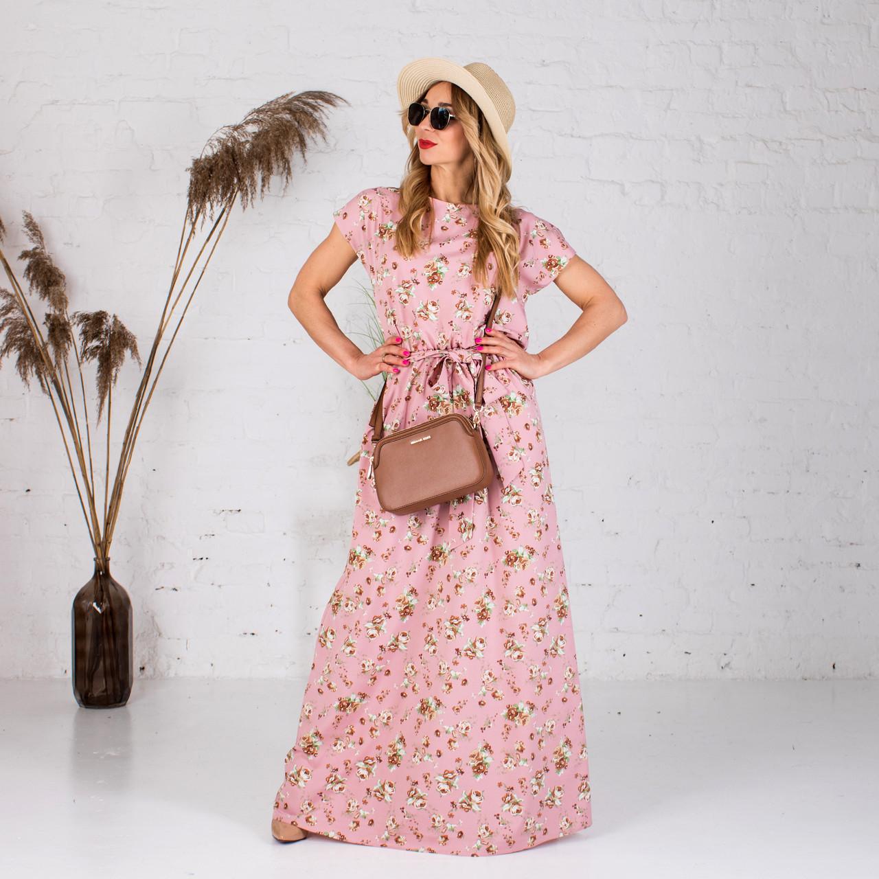 Платья женские Алина розовое 401