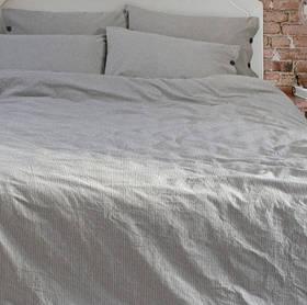 Постельное белье Barine Washed cotton - Shint antrasit антрацит семейный