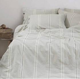 Постельное белье Barine Washed cotton - Sense gri серый семейный