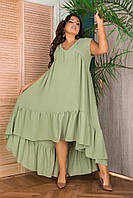 Женский летний сарафан платье стиль бохо размер батальный: 50-52, 54-56, 58-60, 62-64