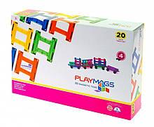 Конструктор Playmags магнитный набор 20 элементов PM155, КОД: 2435291