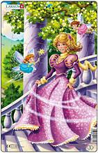 Пазл рамка вкладыш Larsen Принцесса в розовом U8-2, КОД: 2443145