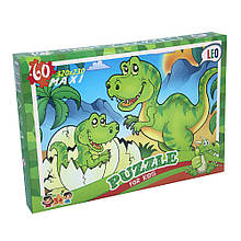 Пазлы Strateg Лео Динозаврики 217-12, КОД: 2443360