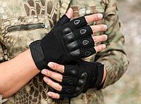 Перчатки тактические Oakley беспалые м, л, хл черные, фото 1