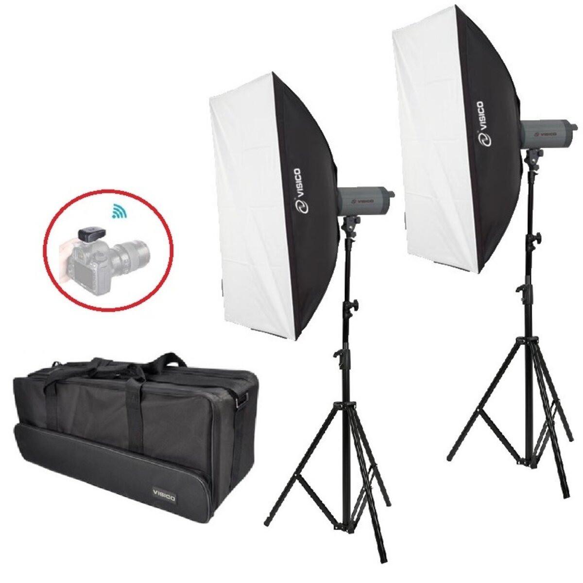 3000Вт Набір постійного світла Visico LED-150T Softbox Kit
