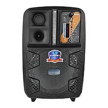 Bluetooth-колонка мобільна на колесах чемоданного типу, з мікрофоном для караоке, на акумуляторі PK-16
