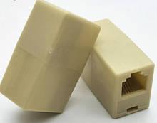З'єднувач Voltronic RJ11 6p4C мамо/мама RJ11, білий (6p4c/18405)
