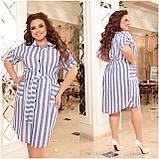 Женское платье рубашка из натурального льна сарафан размер: 48-50, 52-54, 56-58, 60-62, 64/66, фото 3