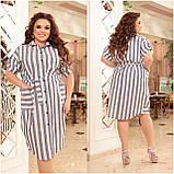 Женское платье рубашка из натурального льна сарафан размер: 48-50, 52-54, 56-58, 60-62, 64/66, фото 2