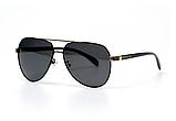 Авиаторы черные очки солнечные с поляризацией. Солнцезащитные очки черные мужские поляризационные, фото 2