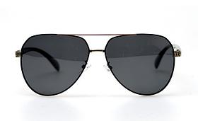 Авіатори чорні окуляри сонячні з поляризацією. Сонцезахисні окуляри чорні чоловічі поляризаційні