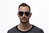 Авиаторы черные очки солнечные с поляризацией. Солнцезащитные очки черные мужские поляризационные, фото 3