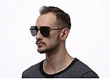 Авиаторы черные очки солнечные с поляризацией. Солнцезащитные очки черные мужские поляризационные, фото 5