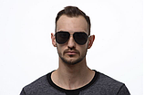 Солнцезащитные очки авиаторы прозрачные мужские с поляризацией. Мужские очки солнцезащитные, фото 4