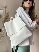 Білий рюкзак жіночий екокожа KL1x36