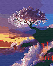 Картина по номерам природа деревья 40х50 Сакура