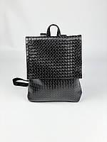 Чорний жіночий рюкзак плетений A4 KL1x33