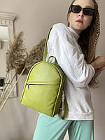 Жіноча сумка-рюкзак зелена штучна шкіра RM1x27