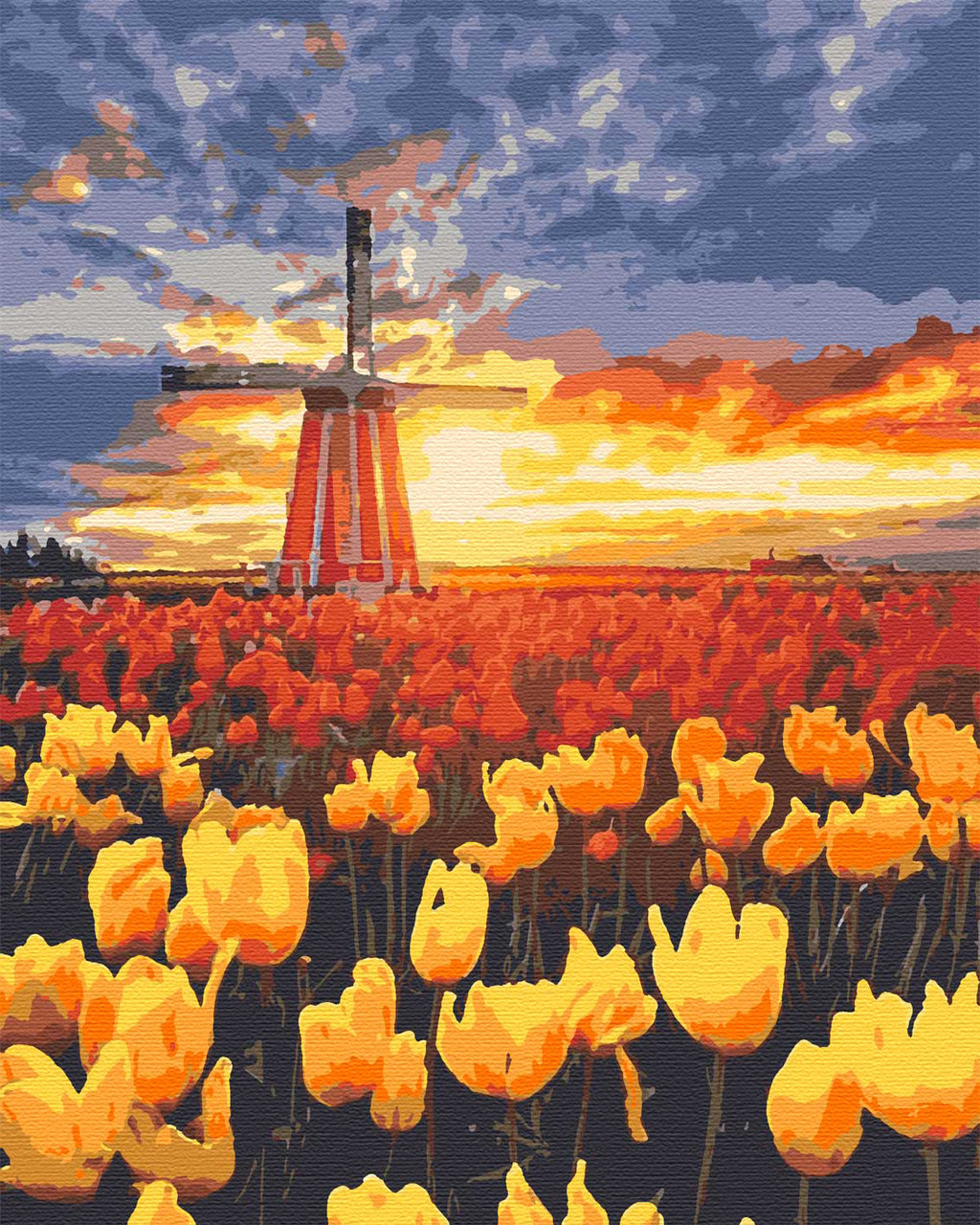 Картина по номерам природа мельница 40х50 Голландия