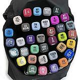 Скетч маркеры Thiscolor 36 шт | Набор двусторонних маркеров для рисования и скетчинга на спиртовой основе, фото 2