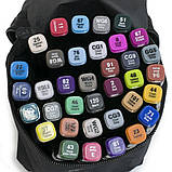 Скетч маркеры Thiscolor 48 шт | Набор двусторонних маркеров для рисования и скетчинга на спиртовой основе, фото 3