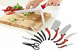 Набор ножей кухонных Contour Pro Knives Контур про + магнитная рейка 10 предметов Original, фото 2