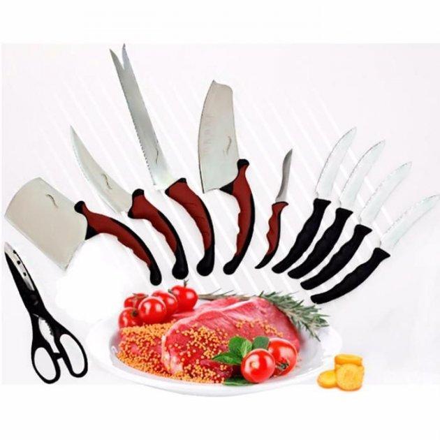 Набор ножей кухонных Contour Pro Knives Контур про + магнитная рейка 10 предметов Original