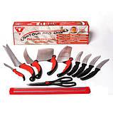 Набор ножей кухонных Contour Pro Knives Контур про + магнитная рейка 10 предметов Original, фото 6