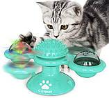 Игрушка для котов спиннер PetFun Карусель с кошачьей мятой и светодиодным шариком, фото 4