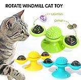 Іграшка для котів спиннер PetFun Карусель з котячою м'ятою і світлодіодним кулькою, фото 6