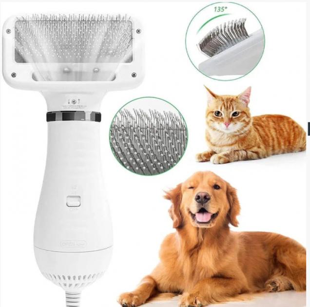 Пилосос-гребінець для вовни Pet Grooming Dryer
