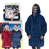 Плед толстовка з рукавами Huggle – плед флісовий м'яке худі теплу ковдру зручне комфортне худі, фото 2