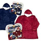 Плед толстовка с рукавами Huggle – плед флисовый мягкое худи одеяло теплое удобное комфортное худи, фото 4