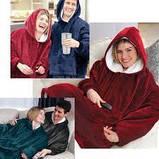 Плед толстовка с рукавами Huggle – плед флисовый мягкое худи одеяло теплое удобное комфортное худи, фото 5