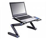 Столик для ноутбука с охлаждением Laptop Table T8 Черный, фото 2