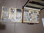 Набір ножів c підставкою 8 предметів German Family сталеві ручки, фото 6