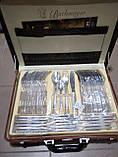 Набір ножів c підставкою 8 предметів German Family сталеві ручки, фото 7