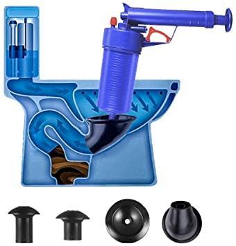 Вантуз-пістолет Toilet dredge GUN BLUE | Пневматичний вантуз, очищувач каналізації високого тиску