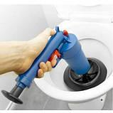 Вантуз-пістолет Toilet dredge GUN BLUE | Пневматичний вантуз, очищувач каналізації високого тиску, фото 4