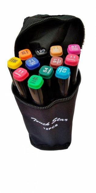 Скетч маркери Thiscolor 12 шт | Набір двосторонніх маркерів для малювання і скетчинга на спиртовій основі
