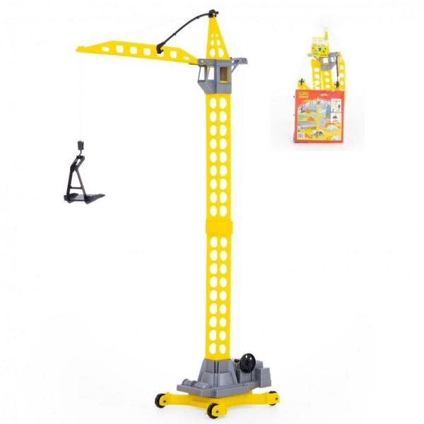 """Іграшка баштовий кран """"Агат"""" на коліщатках великий 79 см, Полісся"""