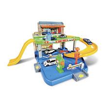 Іграшка Гараж для машинок дитячий (2 рівня, 1 машинка 1:43), Bburago