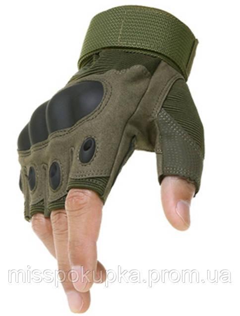 Рукавиці тактичні Oakley безпалі армійські м, л, хл олива
