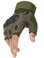 Рукавиці тактичні Oakley безпалі армійські м, л, хл олива, фото 1