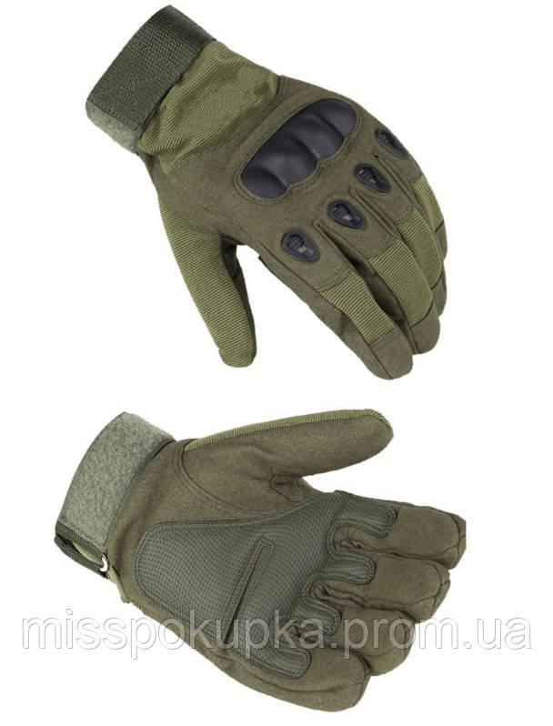 Перчатки тактические с закрытыми пальцами м, л, хл олива