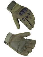 Перчатки тактические с закрытыми пальцами м, л, хл олива, фото 1