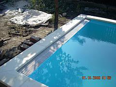 Переливной полипропиленовый бассейн 5х3м с переливом по одной стороне